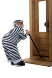Little boy in thief outfit Royalty Free Stock Photo