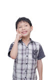 Little boy thinking Stock Images