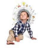 Little boy thinking Stock Photo