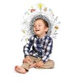 Little boy thinking Royalty Free Stock Photo