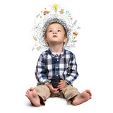 Little boy thinking Stock Image