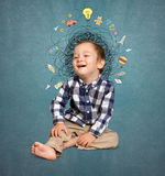 Little boy thinking Royalty Free Stock Photos