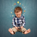 Little boy thinking Royalty Free Stock Images