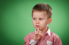 Little boy thinking Royalty Free Stock Photography
