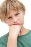 Little boy thinking about something Royalty Free Stock Images