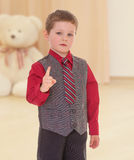 Little boy threatens Royalty Free Stock Images