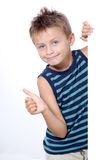 Little boy with thumb up Stock Photo