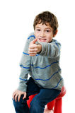 Little boy with thumbs up Stock Photography