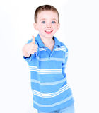 Little boy with thumbs up Stock Image