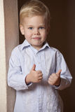 Little Boy with thumbs up gesture Royalty Free Stock Images