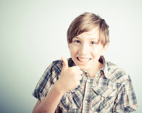 Little boy thumbs up Stock Photography