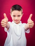 Little Boy with Thumbs Up Royalty Free Stock Photos