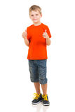 Little boy thumbs up Stock Image