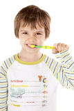 Little boy with tooth brush Royalty Free Stock Images