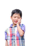Little boy with toothache Royalty Free Stock Images