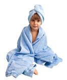 Little boy in the towel Royalty Free Stock Images
