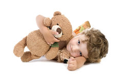 Little boy with toy Royalty Free Stock Photo