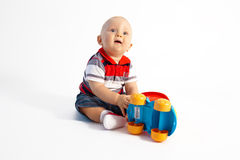 Little boy and toy Stock Photography