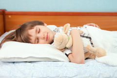 The little boy with toy sheep Royalty Free Stock Image