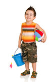 Little boy with toys Royalty Free Stock Photos