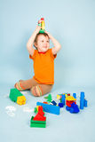 Little boy with toys Royalty Free Stock Photography
