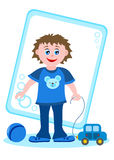 Little boy with toys. Lovely little boy with toys Stock Photography