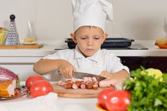 Little boy training to be a chef Stock Photography