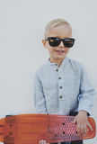 Little boy in trendy sunglasses Royalty Free Stock Images