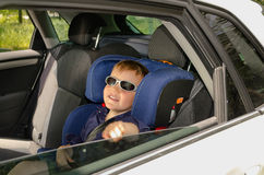 Little boy in trendy sunglasses Royalty Free Stock Image