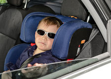 Little boy in trendy sunglasses Stock Photo