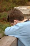 Little Boy triste fotografia stock libera da diritti