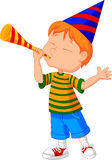Little boy with trumpet Royalty Free Stock Photos