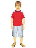 Little Boy Trwanie Wektorowa ilustracja Ilustracja Wektor