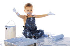 Little Boy Turned Blue Stock Photos