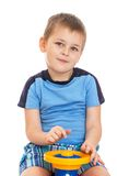 Little boy turns Royalty Free Stock Images