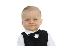 Little Boy in Tuxedo Royalty Free Stock Photo