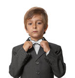 Little boy in a tuxedo Stock Photos