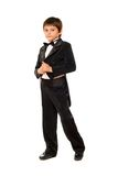 Little boy in a tuxedo. Isolated Stock Photos