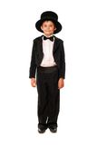 Little boy in a tuxedo. Isolated Stock Photography