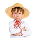 Little boy in Ukrainian national costume Royalty Free Stock Image