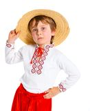 Little boy in Ukrainian national costume Stock Photography