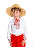 Little boy in Ukrainian national costume Stock Image