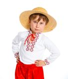 Little boy in Ukrainian national costume Stock Photos