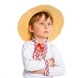 Little boy in Ukrainian national costume Royalty Free Stock Photography