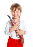 Little boy in Ukrainian national costume Royalty Free Stock Image