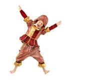 Little Boy in un burlone del costume di carnevale Pagliaccio Immagine Stock