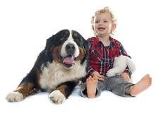 Little Boy und Hund Lizenzfreies Stockbild