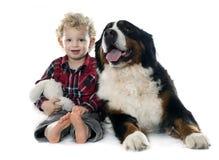 Little Boy und Hund Lizenzfreie Stockfotos