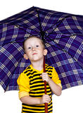A little boy under an umbrella Royalty Free Stock Photography