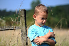 Little Boy Upset Royalty Free Stock Images